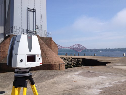 View from the North Stanchion of the Forth Road Bridge